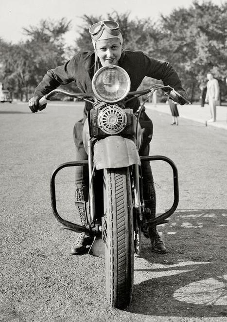 Twitter / HistoryInPics : Sally Halterman, the first ... | Motorcycle Mania | Scoop.it