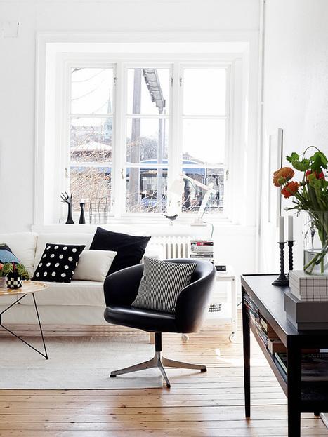 Noir et blanc en Suède | | PLANETE DECO a homes worldPLANETE DECO a homes world | Céka décore | Scoop.it