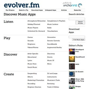 Evolver.fm propose un répertoire de 1700 applications musicales | Mediamus | Musiques, images et jeux en bibliothèque | Scoop.it