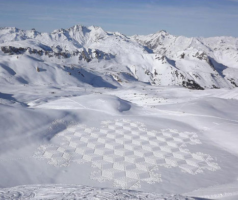 Colossal Snowshoe Art by Simon Beck | Real Estate Plus+ Daily News | Scoop.it