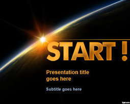 Free Start PowerPoint Template with Dark Horizon | Free Powerpoint Templates | PowerPoint Presentation Library | Scoop.it