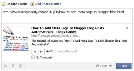 Fix: Wrong Thumbnail Image On Sharing Blogger Posts to Facebook - Blogs Daddy | Blogger Tricks, Blog Templates, Widgets | Scoop.it