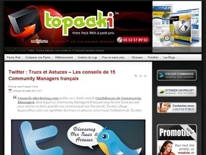 Twitter : Trucs et Astuces – Les conseils de 15 Community Managers français   Animateur de communauté   Scoop.it