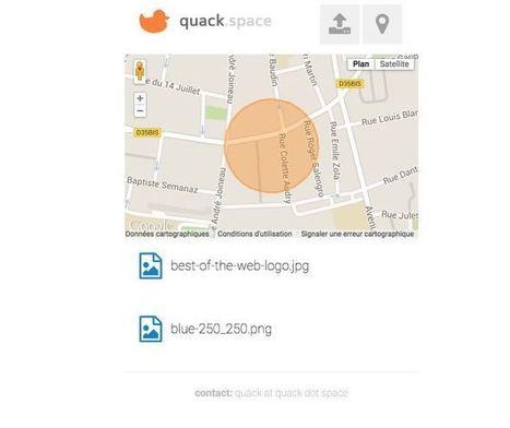 Quack Space. Le partage de fichiers geolocalisé - Les Outils Collaboratifs | Les outils du Web 2.0 | Scoop.it