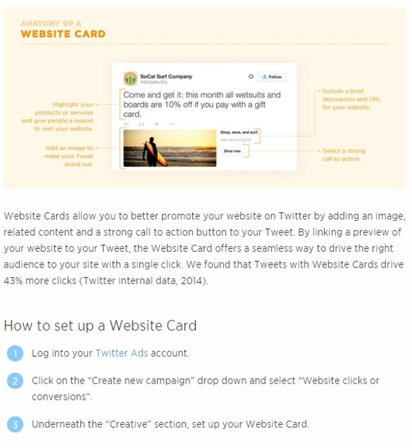 Website Card  | Twitter for Business | The Marketing Technology Alert | Scoop.it