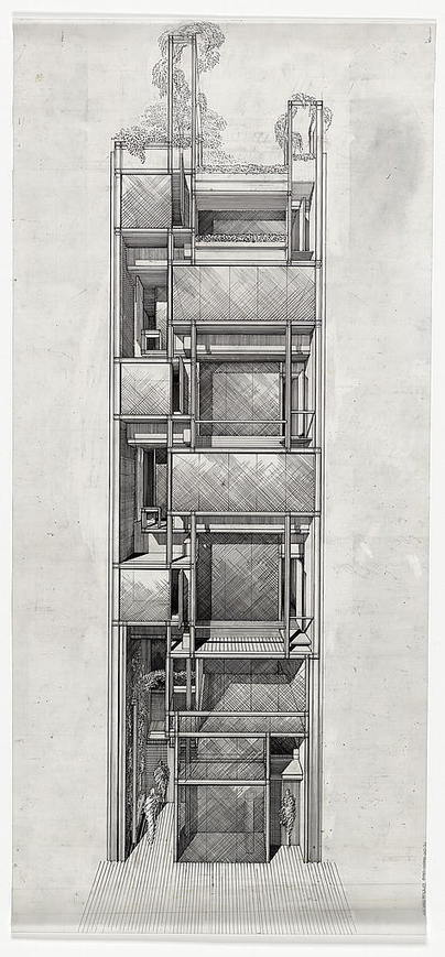 A Selection of Paul Rudolph's Perspective Sections – – SOCKS | The Architecture of the City | Scoop.it