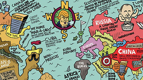 three maps showing donald trumps view of the world | MyHumor | Scoop.it
