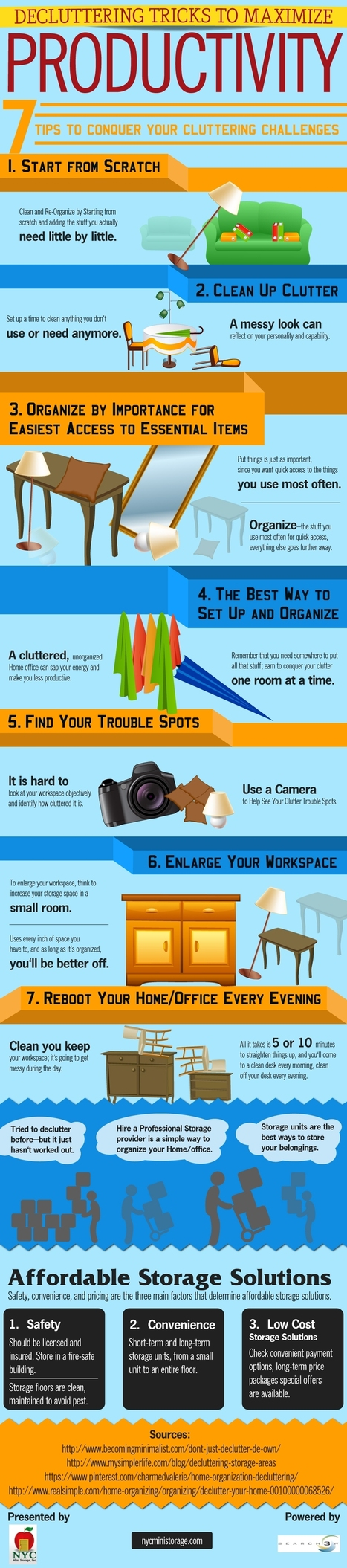 Decluttering Tricks To Maximize Productivity [Infographic | NYC MInistorage | Scoop.it