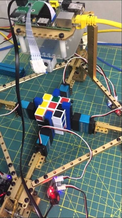 Makeblock Robot Solves the Rubiks Cube via Raspberry Pi @Raspberry_Pi #piday #raspberrypi   Heron   Scoop.it