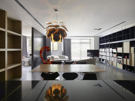 Chic Apartment for Young Couple in Taipei - Freshome.com   CLOVER ENTERPRISES ''THE ENTERTAINMENT OF CHOICE''   Scoop.it