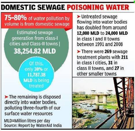 80% of India's surface water may be polluted, report by international body says - Economic Times | Water Stewardship | Scoop.it