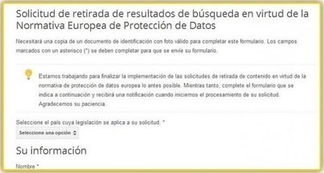 Google crea un formulario para el derecho al olvido en Europa | SEGURIDAD EN INTERNET | Scoop.it