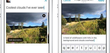 Twitter permet désormais d'intégrer une description aux images. | Communication, marketing, informations, TIC ! | Scoop.it