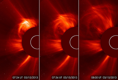 Sun spit out Earth-directed coronal mass ejection earlier today | EarthSky.org | Annie Haven | Haven Brand | Scoop.it