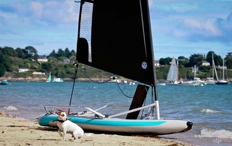 Le Tiwal un dériveur à coque gonflable qui tient dans deux sacs.   Tiwal , the inflatable sailing dinghy made in France   Scoop.it