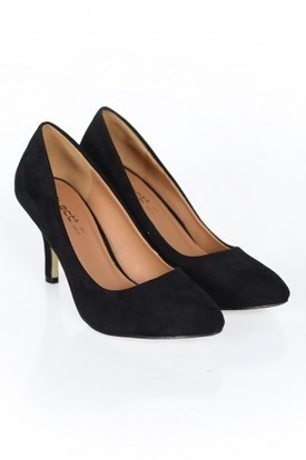 Black Pointy Toe Suede Court Shoes | Womens Clothing | Scoop.it