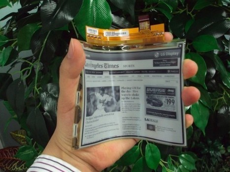 LG unveils flexible plastic e-paper display, aims for European launch next month | Technology and Gadgets | Scoop.it