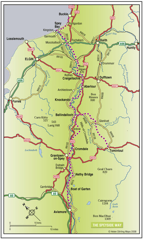 The Speyside Way long distance paths Moray Scotland – Buckie to Aviemore | GreaterSpeyside | Scoop.it