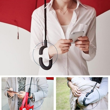 Clever C-shaped handle, inverted umbrella lets you use your phone in the rain | D_sign | Scoop.it