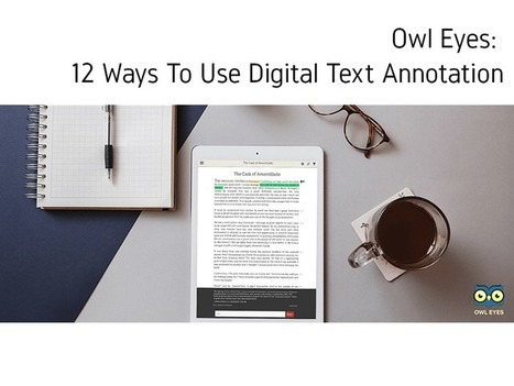 Owl Eyes: 12 Ways To Use Digital Text Annotation - | Zentrum für multimediales Lehren und Lernen (LLZ) | Scoop.it