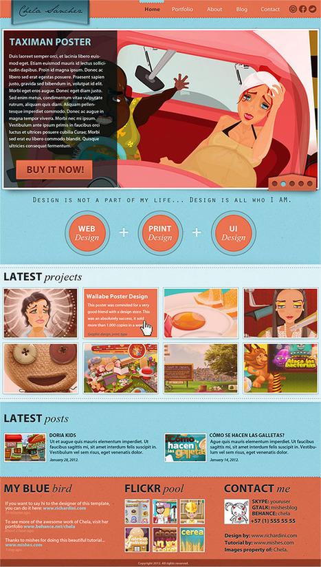 Plantilla de Portafolio para Diseñador Gráfico | Mishes: Diseño gráfico, fotografía, photoshop, illustrator, ilustración, tutoriales, recursos, entrevistas | Ideas | Scoop.it