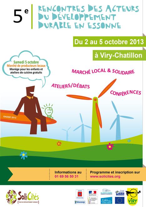 02 au 05 octobre à Viry-Chatillon : 5ème Rencontre des Acteurs du Développement Durable en Essonne | SoliCités, centre de ressources, d'expertise et d'accompagnement sur le développement durable | Scoop.it