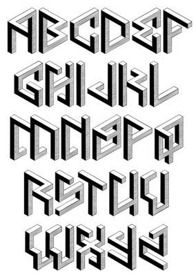 Penrose: una tipografía isométrica e imposible… o casi | Microsiervos (Arte y Diseño) | Activismo en la RED | Scoop.it