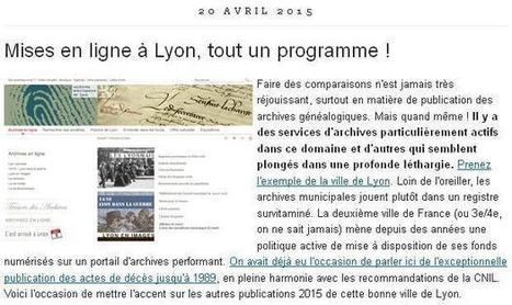 Article du jour (157) : du côté de Lyon | CGMA Généalogie | Scoop.it