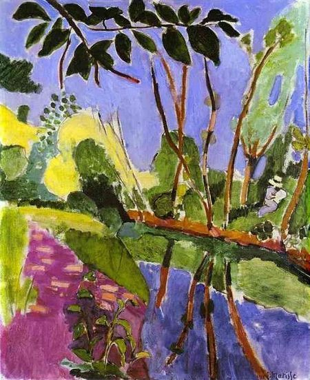 Oil painting reproduction: Henri Matisse The Riverbank 1907 - Artisoo.com | famous paintings gallery | Scoop.it