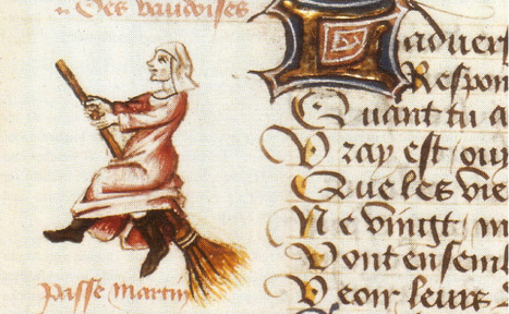 The First Known Depiction of a Witch on a Broomstick | Underground Art | Scoop.it