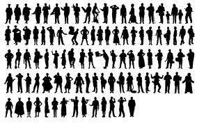 Vectores: 97 siluetas humanas gratis   Victor Miranda   Recursos   Scoop.it