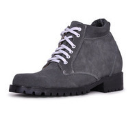 Gray men best taller boots that make you taller 9cm / 3.54inch | Elevator Height Boots for Men Taller | Scoop.it