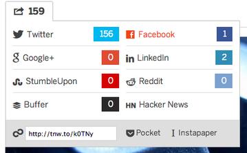 De l'intérêt des boutons de partage | Information KM Veille IE | Scoop.it