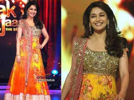 Madhuri Dixit's Outfits In Jhalak Dikhla Jaa | CHICS & FASHION | Scoop.it
