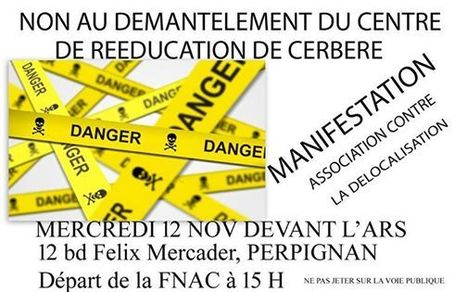 Cerbère : manif le 12 novembre 15h à Perpignan contre la délocalisation du Centre Bouffard-Vercelli | Centre Bouffard-Vercelli Cerbere | Scoop.it