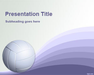 Volleyball PowerPoint Template | Free Powerpoint Templates | PowerPoint Presentation Library | Scoop.it