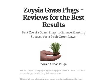 Zoysia Grass Plugs - Reviews for the Best Results | Zoysia Grass Plugs Review | Scoop.it