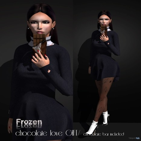 Chocolate Bar Pose Group Gift by Frozen | Teleport Hub - Second Life Freebies | Second Life Freebies | Scoop.it