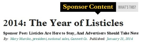2014: The Year of Listicles | Data Matters | Scoop.it