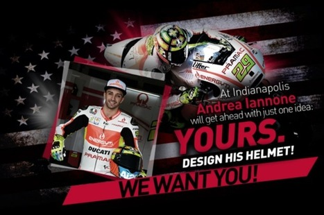 AGV Helmets: Design Andrea Iannone's IndyGP Helmet! | Ductalk Ducati News | Scoop.it