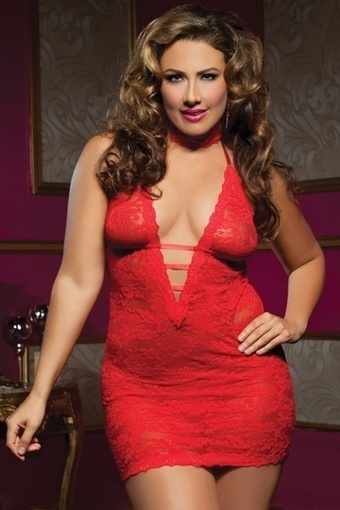 Sexy Plus size Red Midnight Affair Chemise –SexyLingeriesDeal.com | Queen Size Costumes | Scoop.it