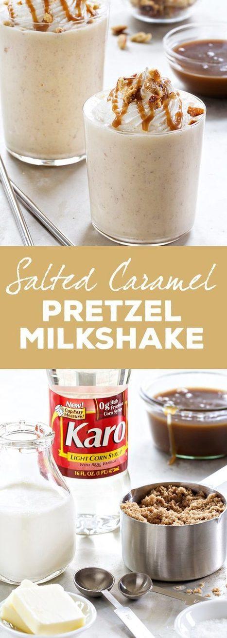 Salted Caramel Pretzel Milkshake | Passion for Cooking | Scoop.it
