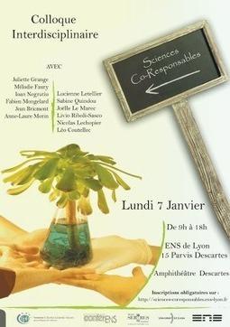 Pourquoi le colloque « Sciences co-responsables » ?   La vie des SHS dans la métropole Lyon Saint-Etienne : veille recherche et enseignement   Scoop.it