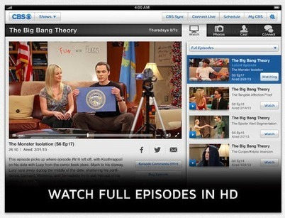 CBS now lets you watch full episodes of fall shows through its apps 8 days after they air | Richard Kastelein on Second Screen, Social TV, Connected TV, Transmedia and Future of TV | Scoop.it