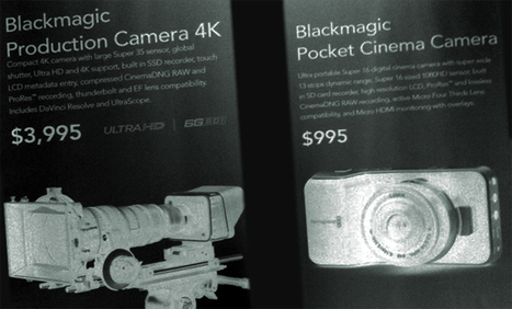 "Blackmagic Goes 4K with S35 Global Shutter Sensor for $4K, and a Pocket Cinema Camera for $1K. By Robert Hardy | ""Cameras, Camcorders, Pictures, HDR, Gadgets, Films, Movies, Landscapes"" 