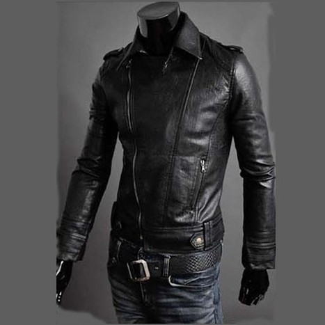 Stylish Men's Slim Fit PU Faux Leather Rider Jackets by martEnvy | How to buy a Genuine Leather Jacket | Scoop.it
