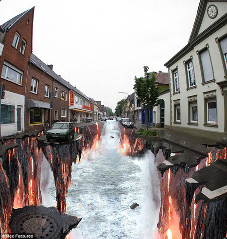 LOOK: Mind-Blowing Apocalyptic 3D Chalk Art   xposing world of Photography & Design   Scoop.it