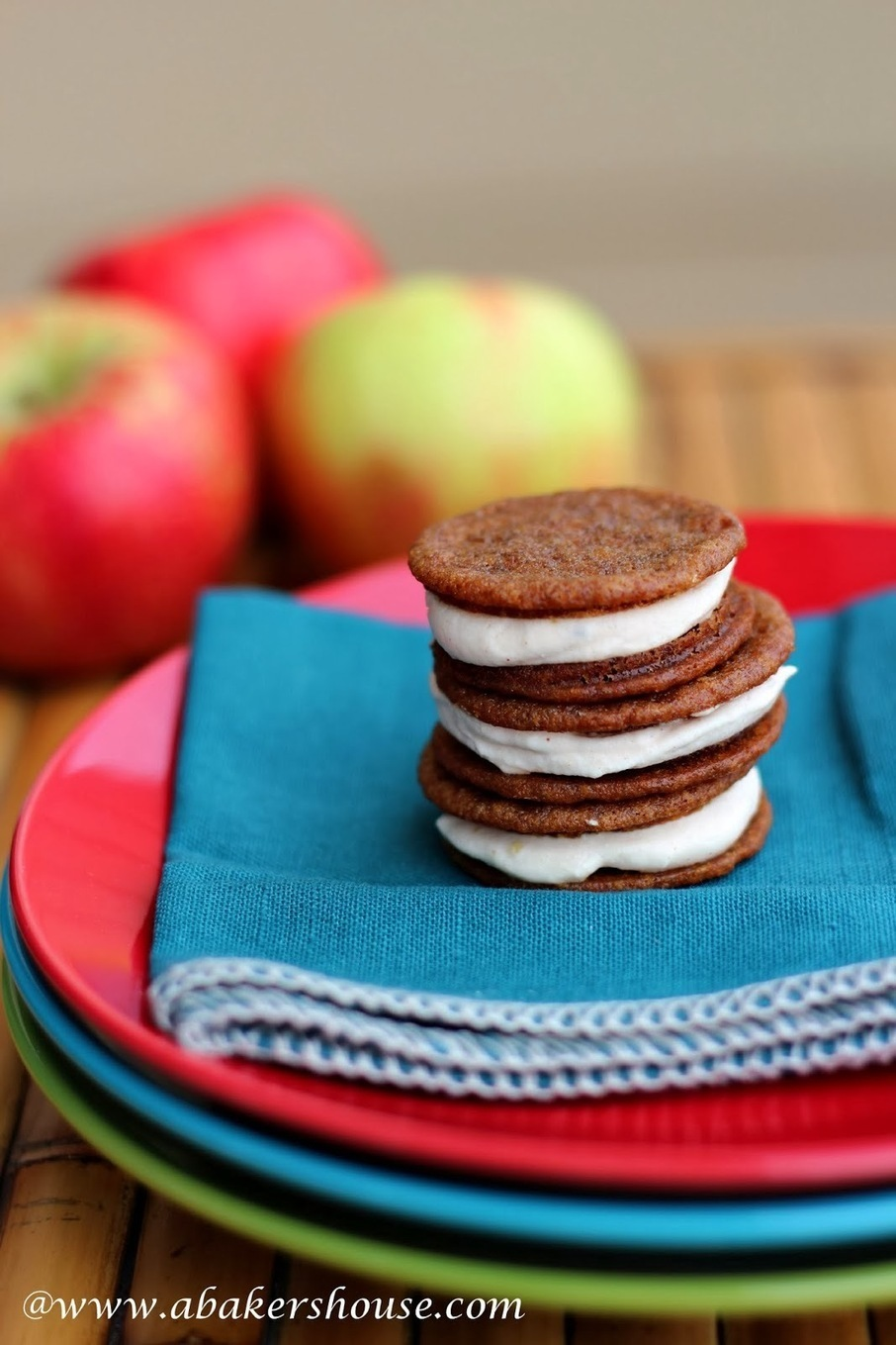 Ginger Sandwich Cookies with Apple Butter Cream...