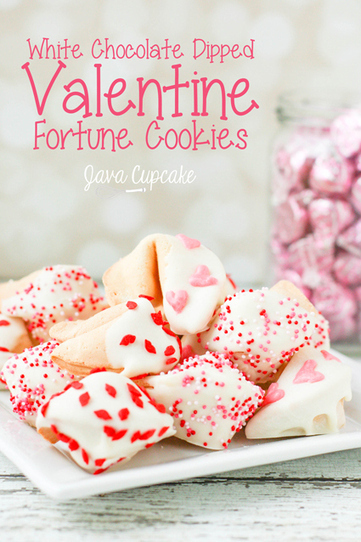 White Chocolate Dipped Valentine Fortune Cookies | Family Food and Feast | Scoop.it