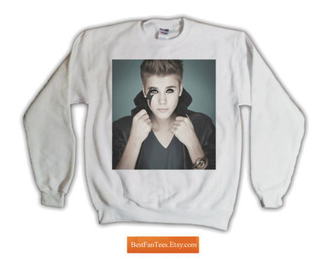 "Justin ""Gaga"" Bieber Sweatshirt Lady Gaga Twitter Feud with Justin Bieber - Exclusive 1 of 300 - Free Shipping to USA - 562.055.White 